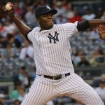 Michael Pineda delivers a pitch in the first inning.