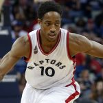 Toronto Raptors guard DeMar DeRozan (10) drives the lane in the first half of an NBA basketball game against the New Orleans Pelicans in New Orleans, Saturday, March 26, 2016. The Raptors won 115-91. (AP Photo/Gerald Herbert)