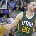 Utah Jazz forward Gordon Hayward (20) brings the ball up court in the second half during an NBA basketball game against the Sacramento Kings Saturday, Dec. 10, 2016, in Salt Lake City. The Jazz won 104-84. (AP Photo/Rick Bowmer)
