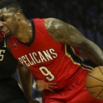 New Orleans Pelicans forward Terrence Jones (#9) in actions during an NBA basketball game between Los Angeles Clippers and New Orleans Pelicans Saturday, Dec. 10, 2016, in Los Angeles.  (AP Photo/Ringo H.W. Chiu)
