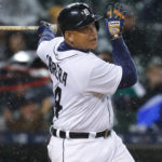 Detroit Tigers' Miguel Cabrera hits a three-run home run against the Cleveland Indians in the fifth inning of a baseball game in Detroit, Wednesday, Sept. 28, 2016.  (AP Photo/Paul Sancya)