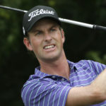 Webb Simpson watches his tee shot on the sixth hole during the third round of the Dean & DeLuca Invitational golf tournament at Colonial Country Club in Fort Worth, Texas, Saturday, May 27, 2017. (AP Photo/LM Otero)